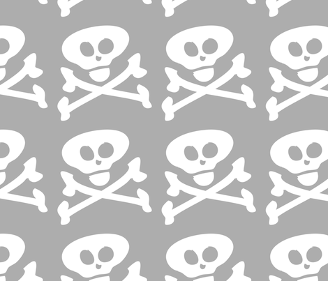 Skull and Crossbones fabric by lesrubadesigns on Spoonflower - custom fabric