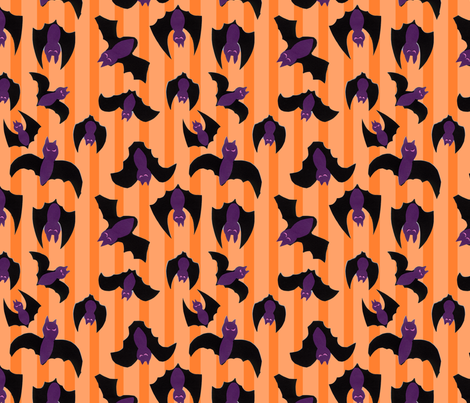 Halloween Bats fabric by lesrubadesigns on Spoonflower - custom fabric