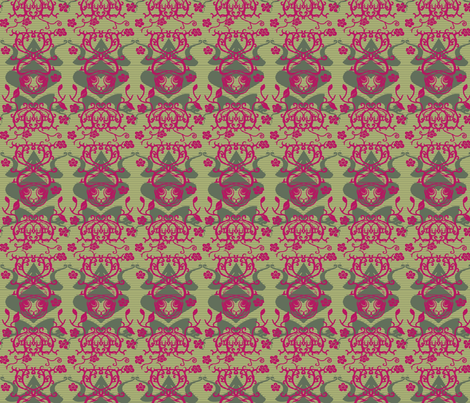 Cat and Frog in the Briars Petite fabric by bloomingwyldeiris on Spoonflower - custom fabric