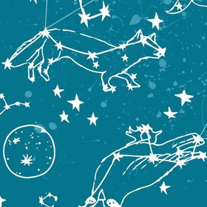 constellations // sky night time stars kids nursery baby animals