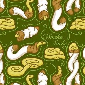 Snake Socks - Green