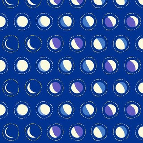moon phase polka - constellation coordinate