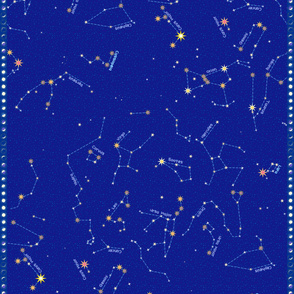 "For Lyra and Cassie - Constellation map (56"")"