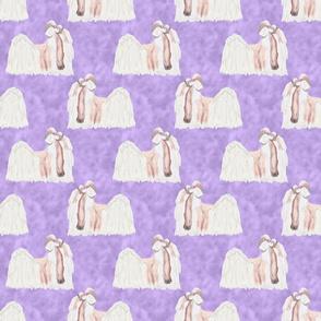 Shih Tzu watercolor profile - purple