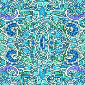 Swirly Aqua Worlds