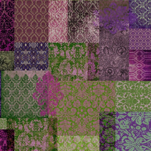 Bohemian Cheater Quilt (in Blueberry and Moss)