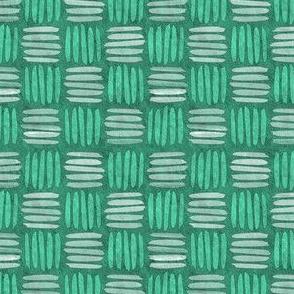 checkered hatch aqua green