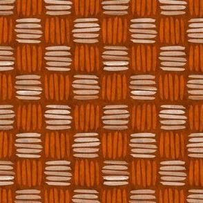 checkered hatch tangerine