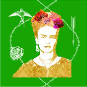 Frida Kahlo (grass) CUSION COVER