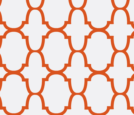 Quatrefoil- Orange/White-Large