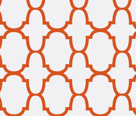 Quatrefoil- Orange/White-Large