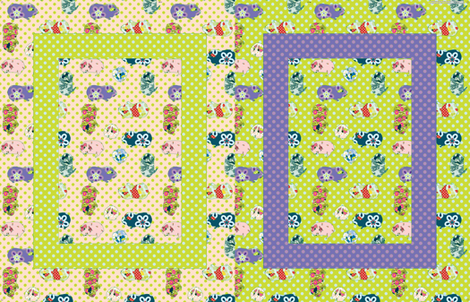 Baby Blanket - Guinea Pigs - Girl fabric by anntuck on Spoonflower - custom fabric