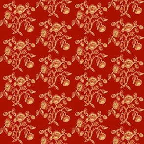Turkey Red Caslon Rose