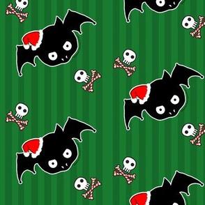 Green Xmas Bats