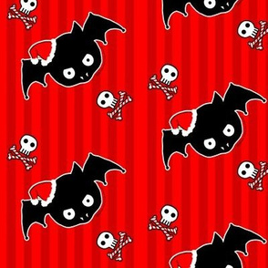 Red Xmas Bat