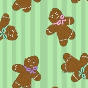 Grumpy Gingerbread Men
