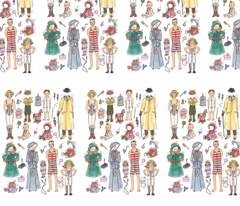 familien-1_2-800 fabric by mariannemathiasen on Spoonflower - custom fabric
