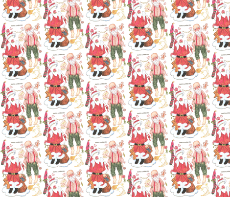 santa-lov fabric by mariannemathiasen on Spoonflower - custom fabric