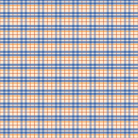 Beige & Blue Plaid  fabric by taramcgowan on Spoonflower - custom fabric