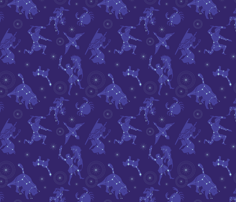 Night Skies fabric by spicysteweddemon on Spoonflower - custom fabric