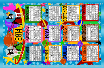 2014 Bostons in Space Calendar