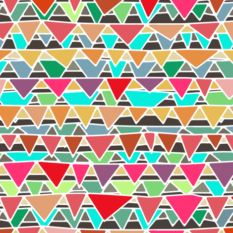 bunting fabric by scrummy on Spoonflower - custom fabric