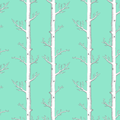Infinity Tree on Mint Background
