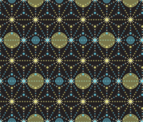 Celestial fabric by paula's_designs on Spoonflower - custom fabric