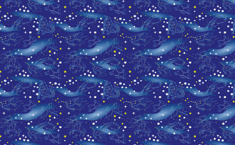 Constellations and Milky Way fabric by vinpauld on Spoonflower - custom fabric