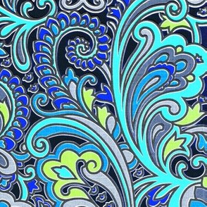 Electric Blue Paisley