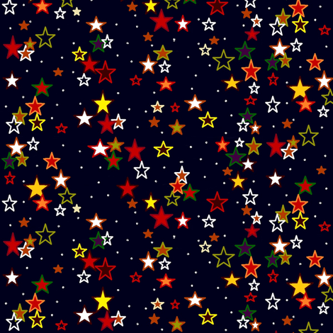 Fall-ing_Stars fabric by skcreations,_llc on Spoonflower - custom fabric