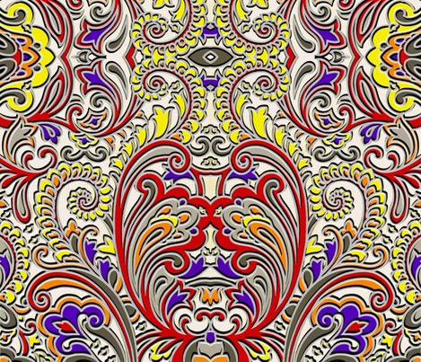 Paisley to the triple D ya'll fabric by whimzwhirled on Spoonflower - custom fabric