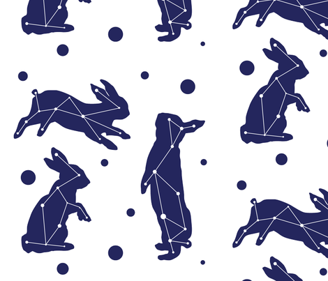 bunny skies fabric by roseandpistachiopress on Spoonflower - custom fabric