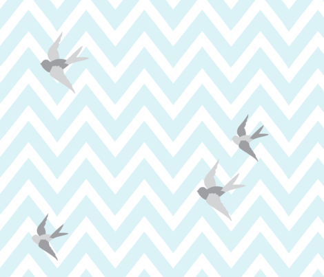 bird5 fabric by lottiefrank on Spoonflower - custom fabric