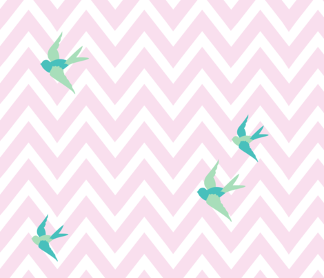 Seaside Love - Chevron fabric by lottiefrank on Spoonflower - custom fabric