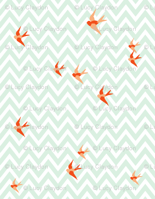 Seaside Love - Chevron (large scale)