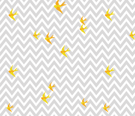 Seaside Love - Chevron (small scale) fabric by lottiefrank on Spoonflower - custom fabric