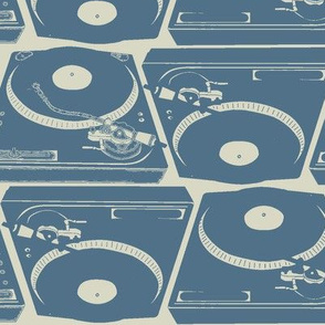 Turntables in blue