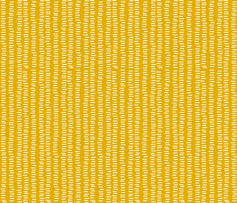 Running Stitch | Mustard Yellow fabric by kennerroad on Spoonflower - custom fabric