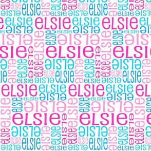 Personalised Name Fabric - Pinks and Blues