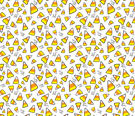 Candy Corn fabric by lesrubadesigns on Spoonflower - custom fabric