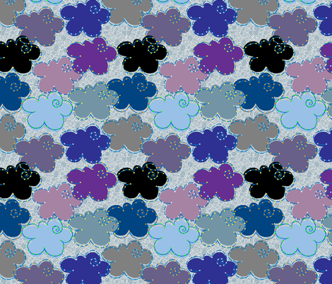 Cloudstellations fabric by dwdesigns on Spoonflower - custom fabric