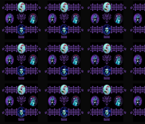Haunted Mansion Tribute fabric by pocketfullofposiez on Spoonflower - custom fabric