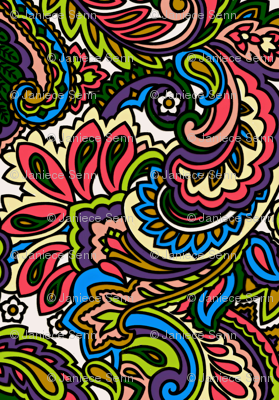 A whole lot of paisley going on
