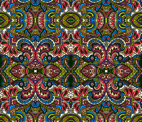 A whole lot of paisley going on fabric by whimzwhirled on Spoonflower - custom fabric