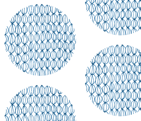blue circles fabric by mummysam on Spoonflower - custom fabric