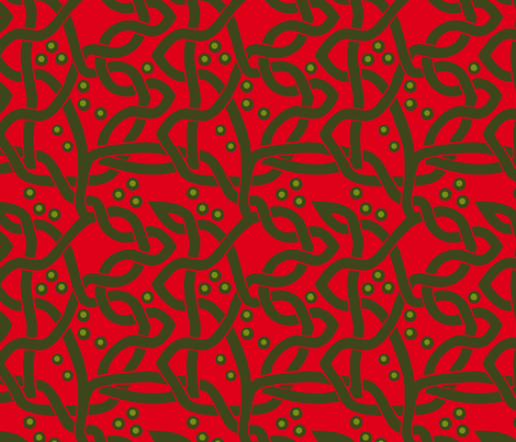 Celtic Knots Red Green