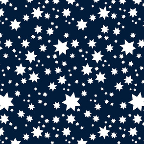 Stars Navy and white