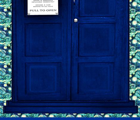 Huge Police Box Door for Curtain Sheet Wall Hanging fabric by bohobear on Spoonflower - custom fabric