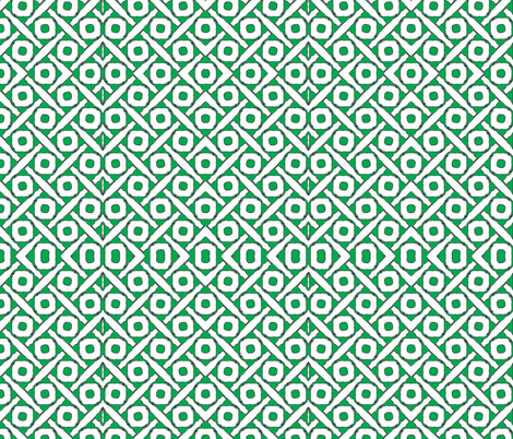 green and white circles squared fabric by ann-dee on Spoonflower - custom fabric
